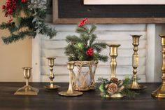 Our Traditional Christmas Decor – Console Styling Pine Garland, Console Styling, Christmas Traditions, Console Table, Candlesticks, Lanterns, Candle Holders, Christmas Decorations, Seasons