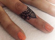nice Finger // knuckle tattoos ❥ dainty...