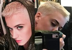 Katy Perry with new blonde crop!!