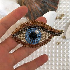 Evil eye blue brooch crystal Kabbalah lapel pin third eye man gift for luck Crystal blue brooch evil eye pearl Kabbalah lapel pin third eye man gift for luck Beaded Brooch, Crystal Brooch, Crystal Jewelry, Diy Jewelry, Fashion Jewelry, Jewelry Making, Zipper Jewelry, Bead Embroidery Jewelry, Beaded Embroidery