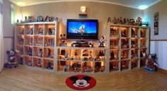 I need some shelves for my collectible a. Not nearly this many to display, but still, quite a few...