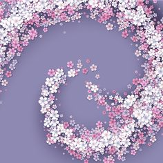 Блог Колибри: Spring, 8 March, vector backgrounds with flowers