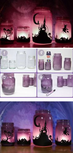 Witchy Lanterns | 20+ DIY Outdoor Halloween Decorations on a Budget