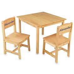 $129.99. KidKraft® Personalized Boy's Aspen Table & Chair Set in Natural with Blue Lettering