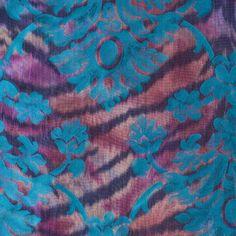 Italian Teal Floral-Animal Brocade Fabric by the Yard | Mood Fabrics