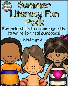 This Summer Literacy Fun Pack combines these two Summer Writing for Real Purposes products, plus a bonus printable!