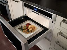 Carla Aston reporting LIVE at KBIS: Thermador's new MicroDrawer Microwave is must-have! Click through for my review, product specifications, pictures, and a recommendation on where you can buy it at a great price! Yes - this is very nice!