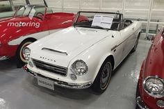 Japanese convertible - Datsun Fairlady - marketed in Australia as the Datsun 2000 Sports b/c supposedly the original name wasn't considered macho enough for our market. Datsun Roadster, Magnificent 7, Nissan, Convertible, Antique Cars, Classic Cars, 1960s, Wheels, Australia
