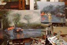 Rainscapes: My Rainy Windshield Paintings On Canvas | Bored Panda