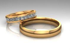 Парные обручальные кольца, 30 бриллиантов