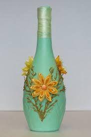 Resultado de imagen para decoraciones para botellas con quilling