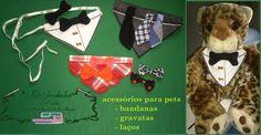 acessórios pets = bandanas, laços e gravatas