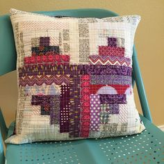 Stitched with purple pearle cotton  Rene Creates