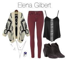 """Elena Gilbert Inspired Outfit"" by demiwitch-of-mischief ❤ liked on Polyvore featuring Ash, Topshop, M.i.h Jeans and Lazuli"