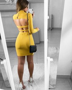 Pinned onto 2018 winter outfits Board in 2018 winter outfits Category Dresses For Teens, Tight Dresses, Sexy Dresses, Cute Dresses, Casual Dresses, Fashion Dresses, Prom Dresses, Skirt Outfits, Sexy Outfits