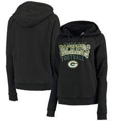 Green Bay Packers 5th & Ocean by New Era Women's Pullover Hoodie – Black