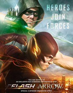 Poster del nuevo crossover entre Arrow y The Flash
