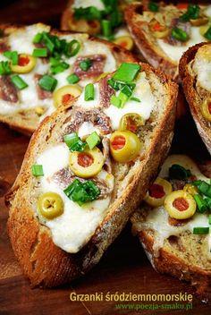 Grzanki śródziemnomorskie z anchois / Mediterranean toast with anchovies (recipe in Polish)