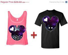 Mickey and Minnie Couples Matching Shirts Boxy Tanktop Tank Top Disney 605d9ada9b2
