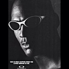Check out this old Oakley ad with Michael Jordan