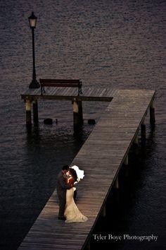 Romantic waterfront wedding
