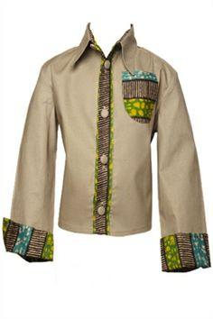 African print boys shirt
