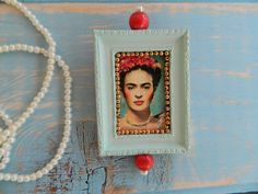 Alternative summer wedding brooch, Statement brooch, Frida Kahlo pin, Vintage jewelry,Mother day, in a gift box, Turban pin, Cameo brooch, by MiAlmaMia on Etsy