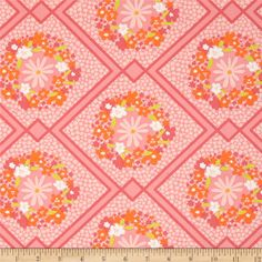 Art Gallery Dreamin' Vintage Cottage Treasures Pink from @fabricdotcom  Designed by Jeni Baker for Art Gallery, this cotton print is perfect for quilting, apparel and home decor accents.  Colors include white, spring green and shades of pink.  Art Gallery Fabric features 200 thread count of finely woven cotton.