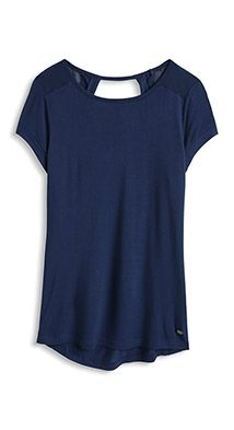 silky T-shirt with cut-out