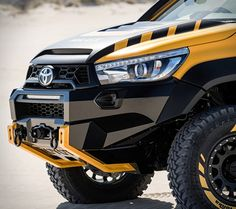 Ever fantasised about a real life Tonka Truck when you were a kid? Well, to mark Tonka's birthday, Toyota fulfills every man's childhood dream by transforming its HiLux into a man-sized Tonka Truck that starts and drives. Toyota 4x4, Toyota Hilux, Toyota Trucks, 4x4 Trucks, Toyota Tacoma, Cool Trucks, Nissan Trucks, Diesel Trucks, Custom Trucks