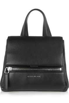0f46e4cdd7e Givenchy Mini Pandora Pure bag in black textured-leather with detachable  shoulder strap
