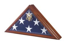 Urns Northwest  - Vice Presidential Military Flag Case, $159.00 (http://urnsnw.com/vice-presidential-military-flag-case/) Beveled glass, walnut wood, embossed Great Seal, optional urn base or pedestal stand. Made in the USA.