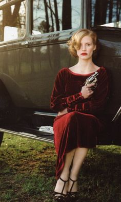 Jessica chastain in lawless, the red velvet dress! Hollywood Actresses, Actors & Actresses, Divas, Roaring Twenties, Jessica Chastain, Movie Costumes, Tom Hardy, Great Movies, Costume Design