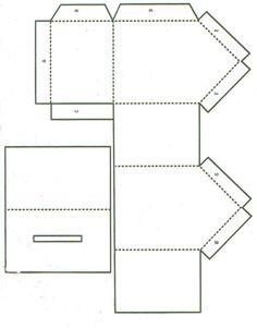 kostenloser download vorlage f r ein einfaches haus aus papier zum selber basteln weihnachten. Black Bedroom Furniture Sets. Home Design Ideas