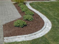 Lawn Border Pavers paver edging simons landscaping chesterton Source: website minute gardener photo paver mow strip Source: website l. Brick Landscape Edging, Brick Garden Edging, Garden Pavers, Garden Shrubs, Lawn And Garden, Shade Garden, Landscape Design, Garden Bed, Paver Edging