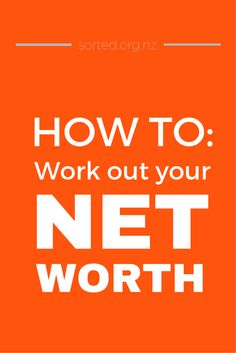What the heck is net worth and why should you care? Learn how to calculate your…