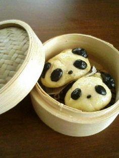 steamed panda buns