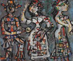 René Portocarrero, Untitled (Tres figuras)
