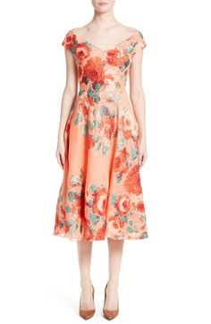 Lela Rose Floral Fil Coupé Dress available at #Nordstrom