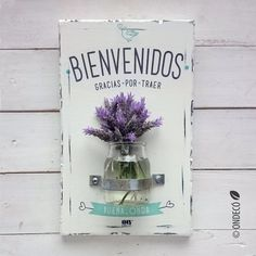 Porta flores | Bienvenidos Country Sampler, Decorated Jars, Bottles And Jars, Mandala Art, Crafts To Do, Painting On Wood, Diy Room Decor, Wood Projects, Things To Sell