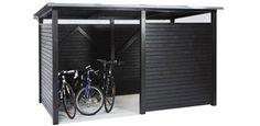 bicycle shed - Fahrrad Indoor Bike Storage, Bicycle Storage, Pergola Canopy, Pergola Patio, Pergola Kits, Pergola Ideas, Shed Storage, Locker Storage, Garage Velo