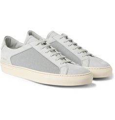 Common Projects - Achilles Leather and Mesh Low Top Sneakers | MR PORTER - LEATHER - InStores