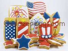 A Dozen Eggs Bake Shoppe | Fourth of July Cookie Collections