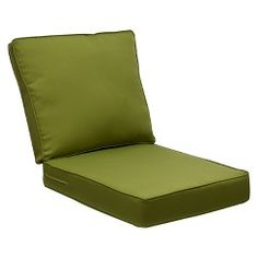 Belmont Outdoor Brown Wicker Seat & Back Club Chair/Loveseat/Sectional Replacement Cushion Set - Green