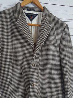 Vintage Tommy Hilfiger Mens Sports Jacket Size 42R Brown Plaid Houndstooth  USA  TommyHilfiger  tommy  vintage  vintagetommy  vintagetommyhilfiger   plaid ... 86b4a47c06566