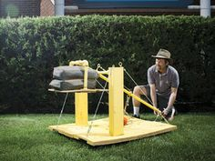 Who doesn't like catapults!  Here's how to make a sturdy one for serious catapulting  Gravity Catapult — DIY How-to from Make: Projects