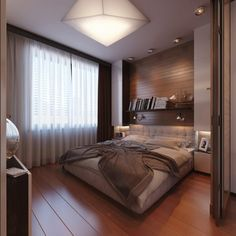 Cozy, Modern and Practical Bedroom with a Travel-Inspired Theme