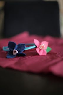 diadeem felt flower : patat en kroket