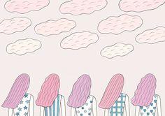 pink clouds & purple hair