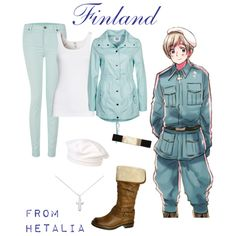 """Hetalia - Finland"" by anime-couture on Polyvore"